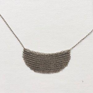 J.Crew Mesh Chain Bib Necklace